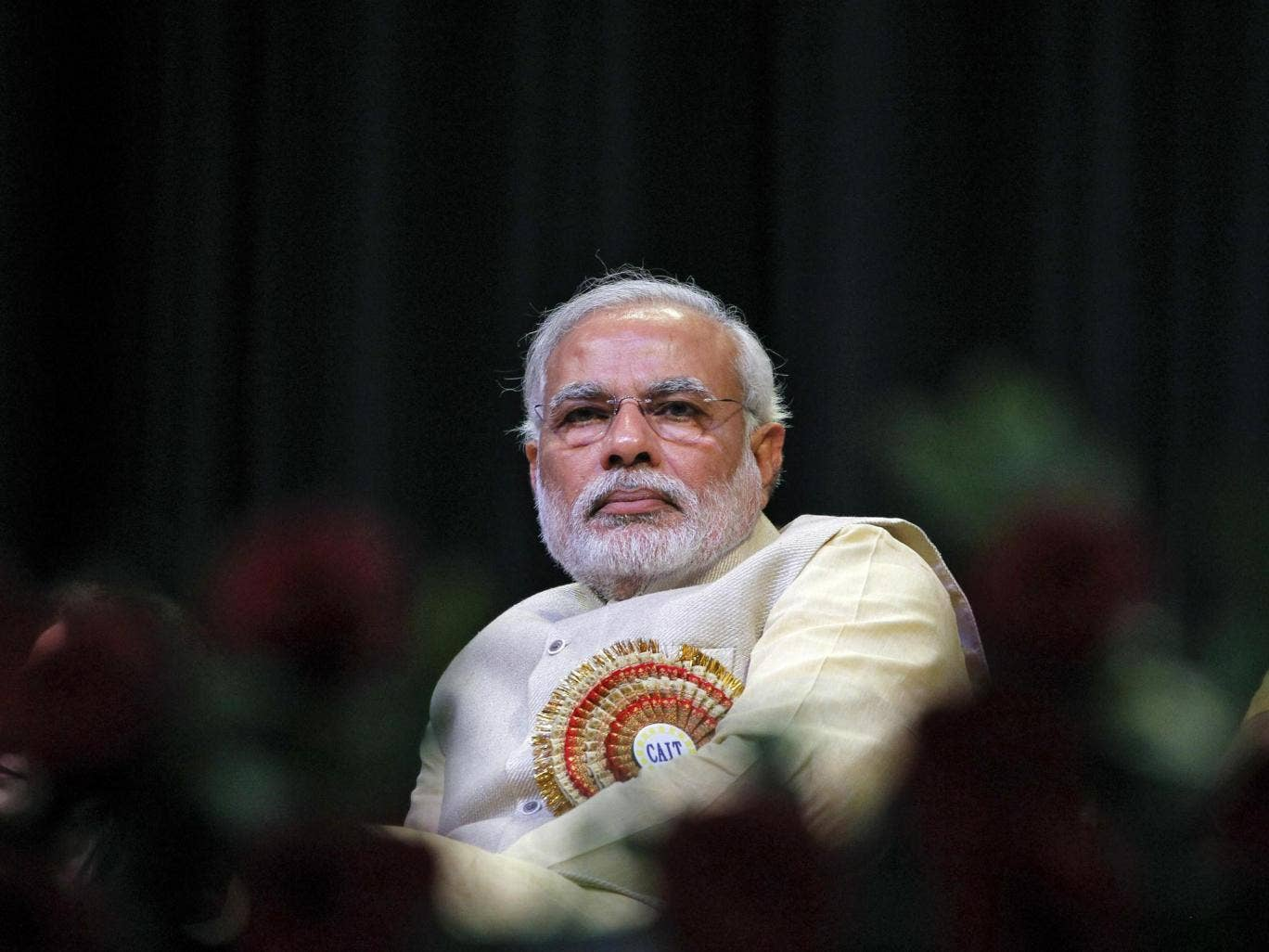 Hindu nationalist Narendra Modi, prime ministerial candidate for India's main opposition Bharatiya Janata Party (BJP)