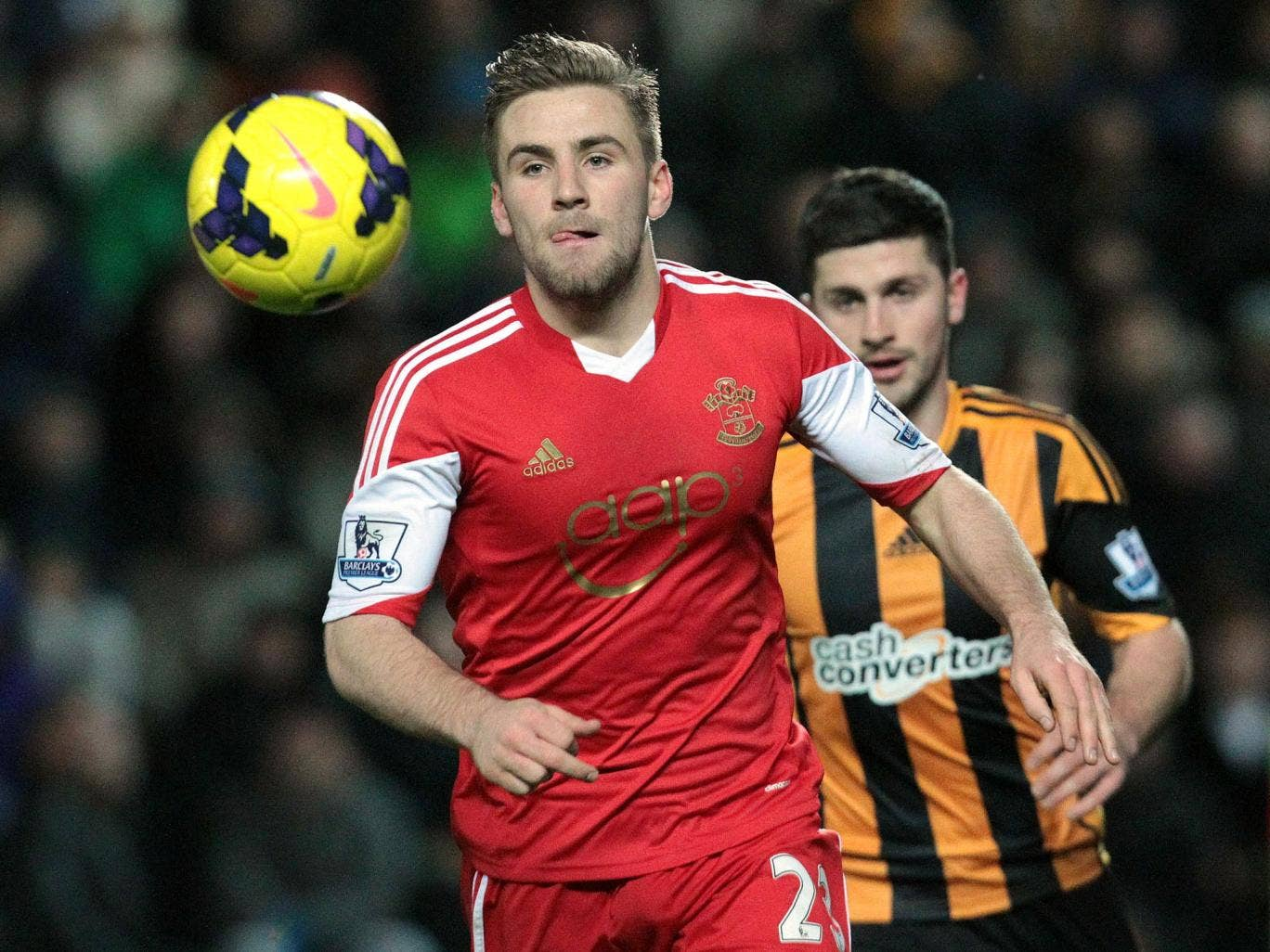 Southampton defender Luke Shaw could be given his first England cap in Wednesday's clash with Denmark