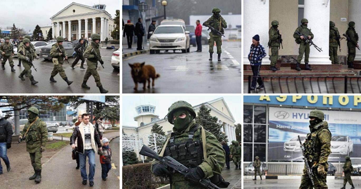 Scenes from Crimea yesterday, where unidentified armed men took over airports and shut off roads