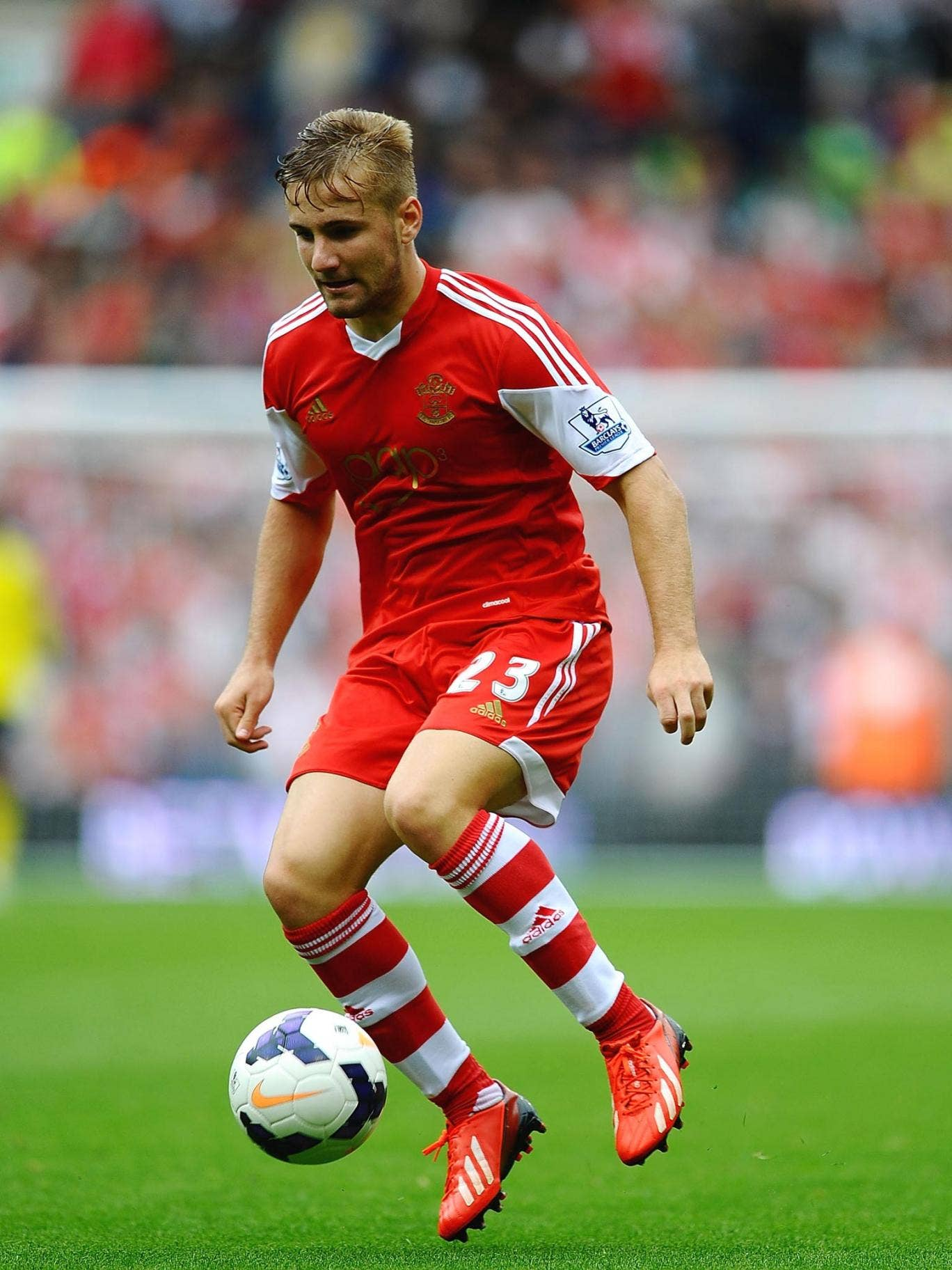 Southampton left-back Luke Shaw could make the England shirt his own in future and be partnered on the right flank by Nathaniel Clyne or Kyle Walker, both of whom I've worked with