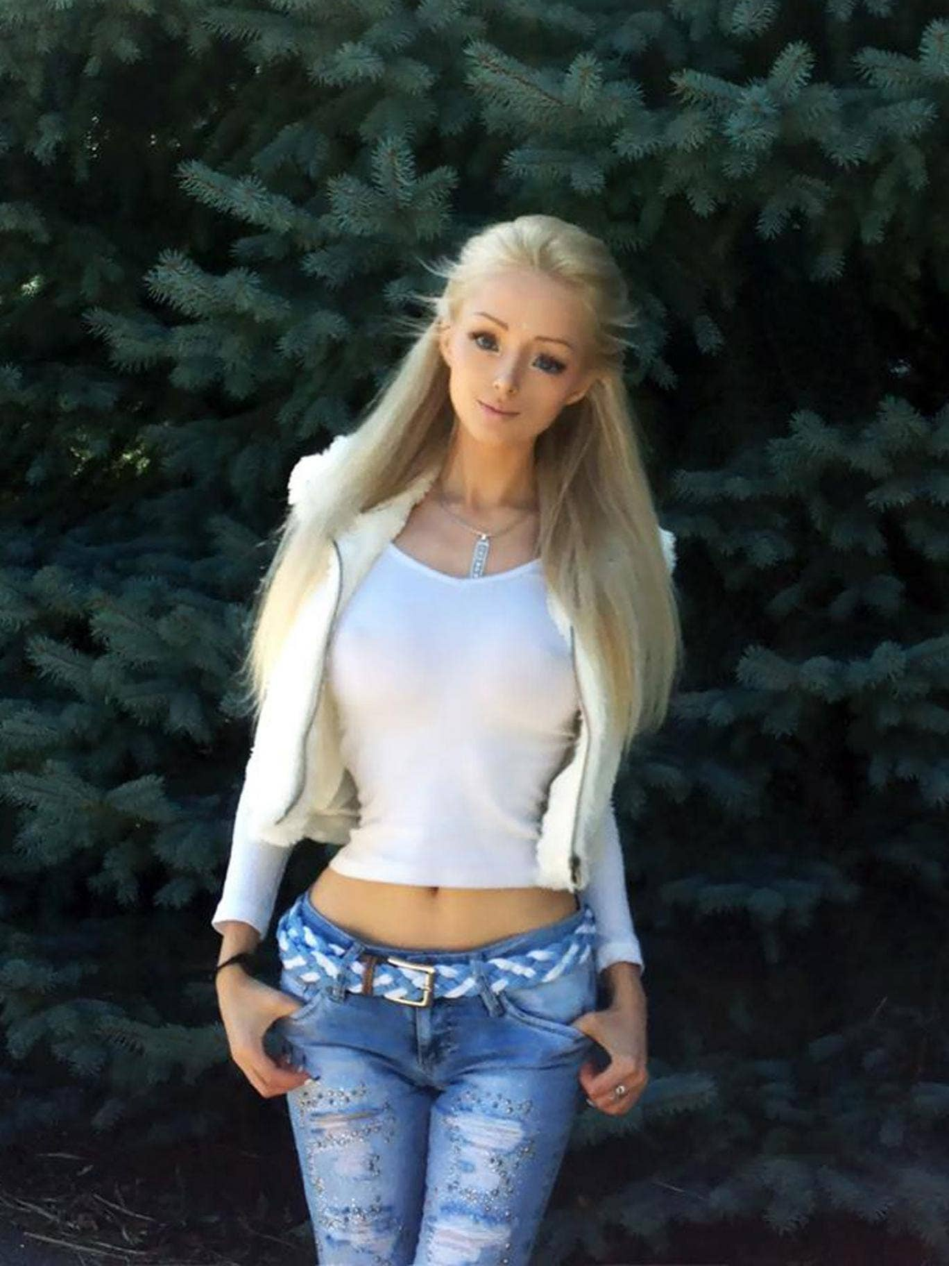 Valeriya Lukyanova has attracted controversy for her doll-like appearance