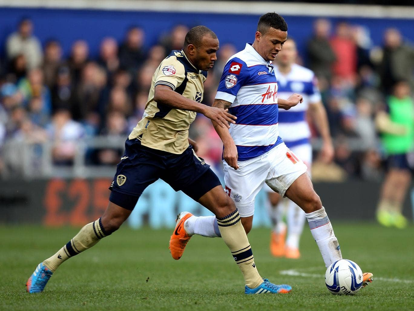 Queens Park Rangers midfielder Jermaine Jenas scored an equaliser for QPR in their 1-1 draw with Leeds