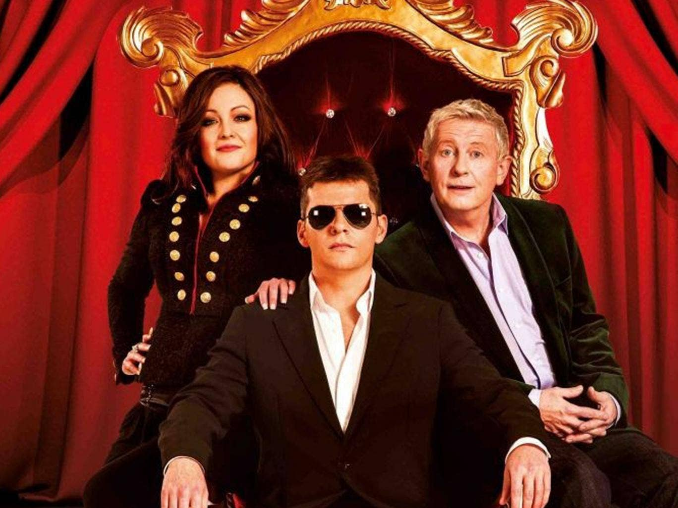 I Can't Sing! stars former EastEnders actor Nigel Harman (centre) as a character inspired by Simon Cowell