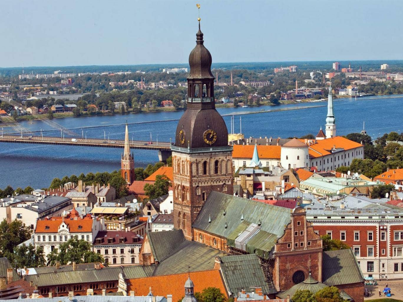 Baltic beauty: A view of Riga's rooftops and the Daugava river