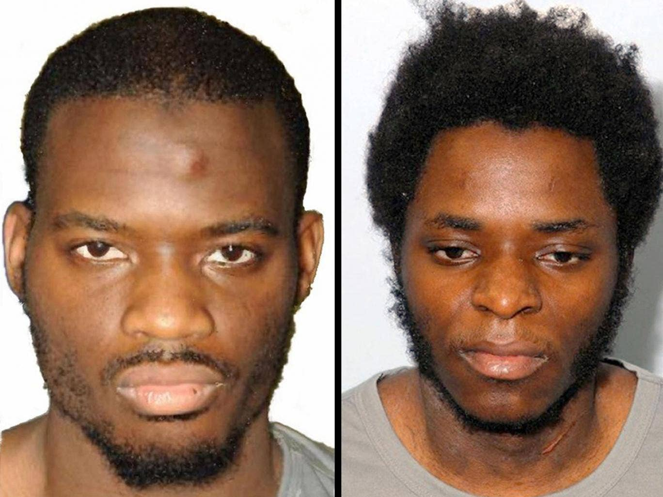 Michael Adebolajo (left) and Michael Adebowale were found guilty of the murder of soldier Lee Rigby