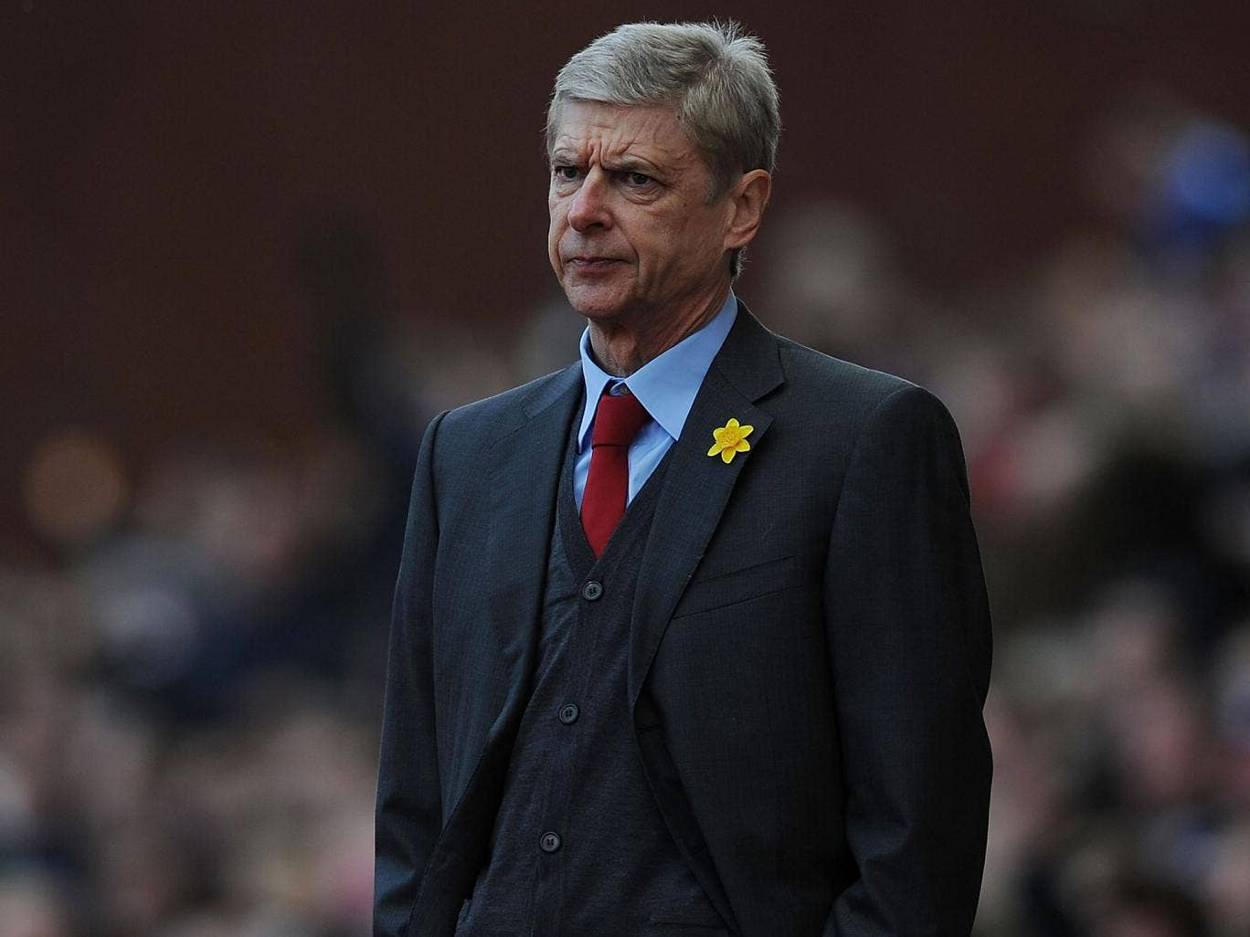 Arsene Wenger looks on from the touchline at the Britannia Stadium on Saturday