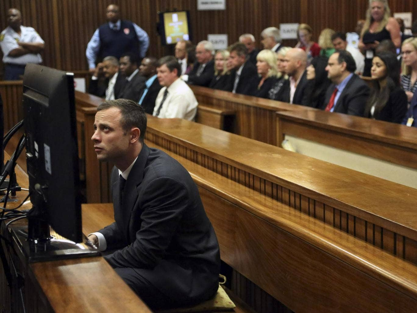 Oscar Pistorius at the Pretoria High Court in Pretoria, South Africa