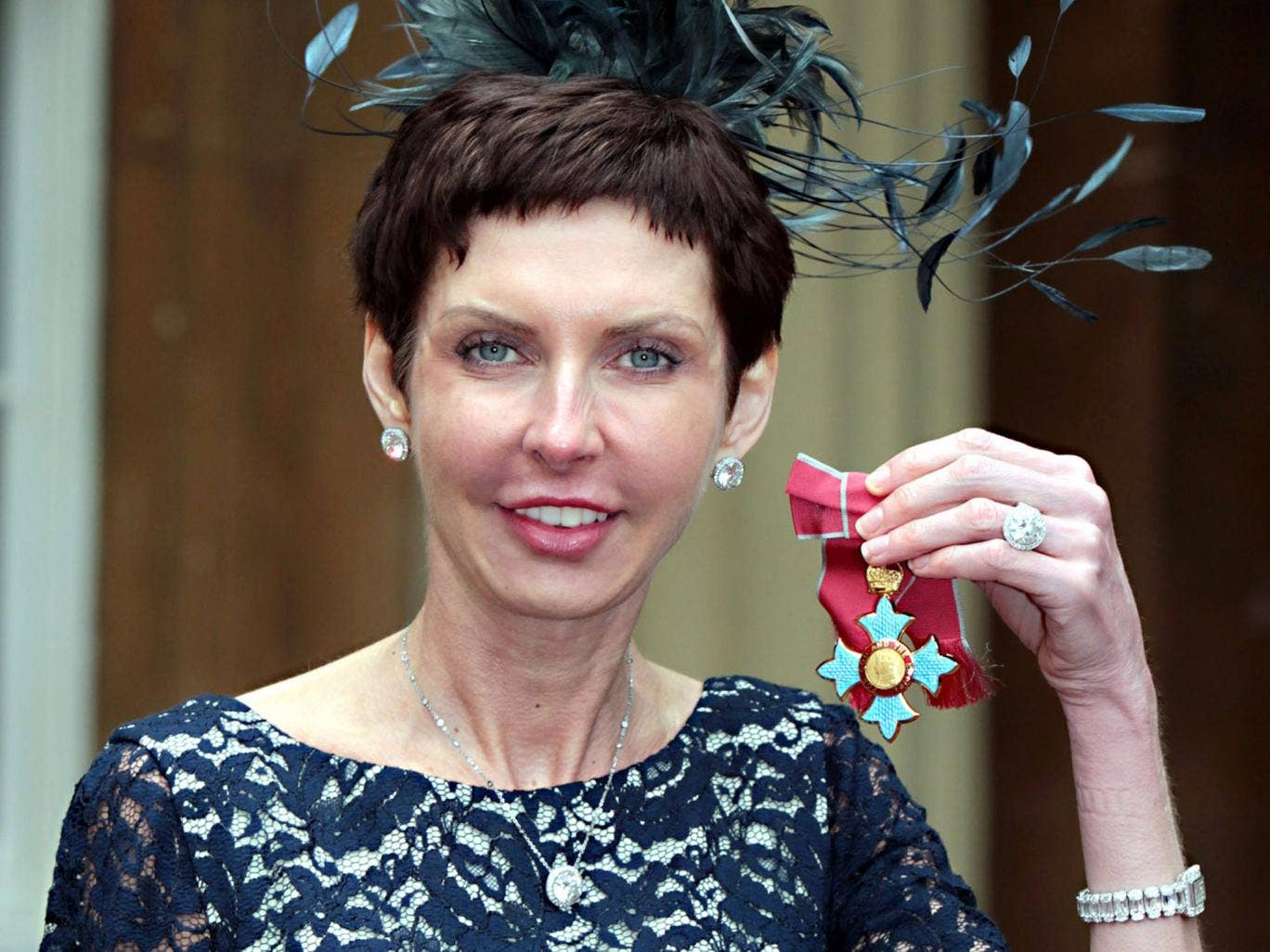 Who'd have bet on it? Denise Coates after she was appointed CBE in May 2012