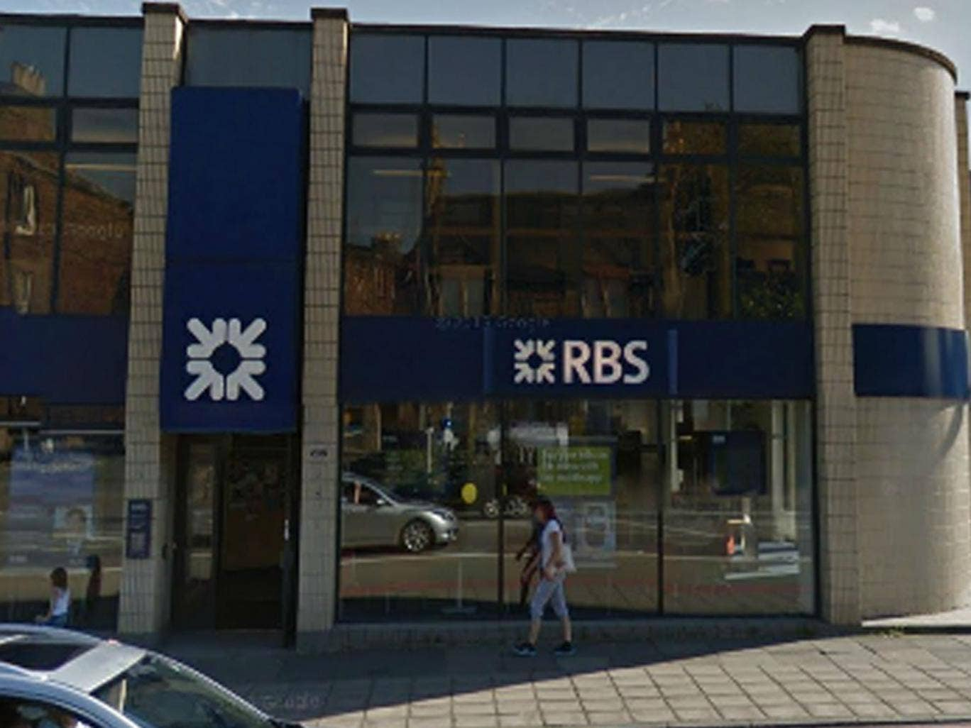 Royal Bank of Scotland in St John's Road, Edinburgh, where a man alleged stole thousands of pounds and got away in a taxi waiting outside