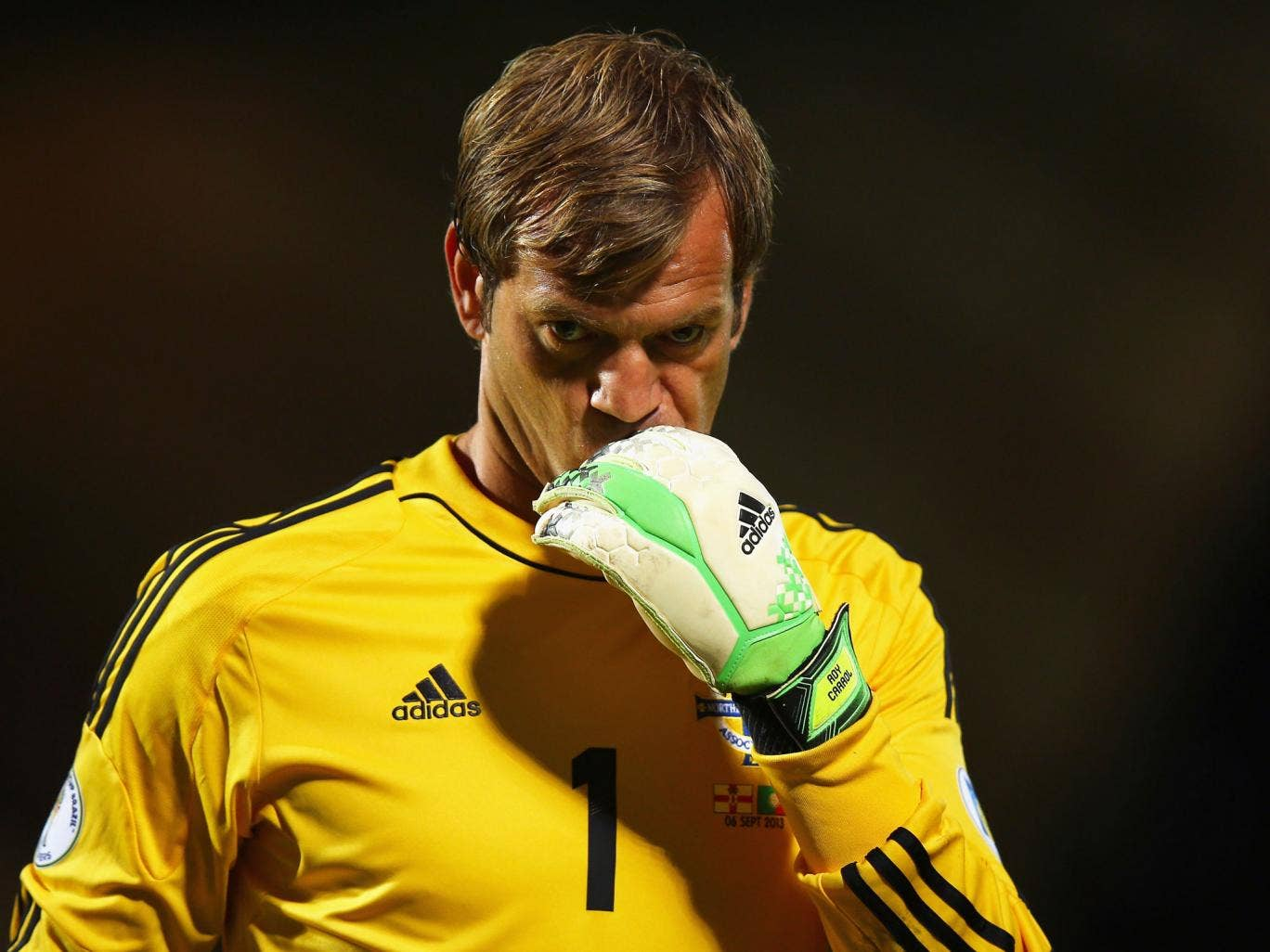 Roy Carroll in action for the Northern Ireland last September