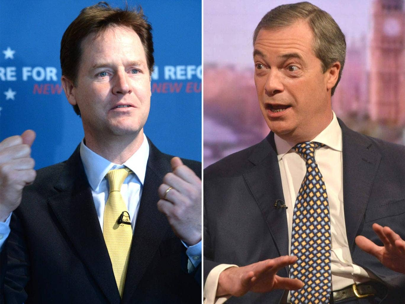 Nick Clegg and Nigel Farage have already begun the verbal sparring