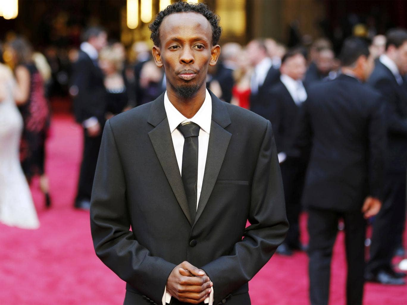 Barkhad Abdi arriving at Sunday's Oscars ceremony