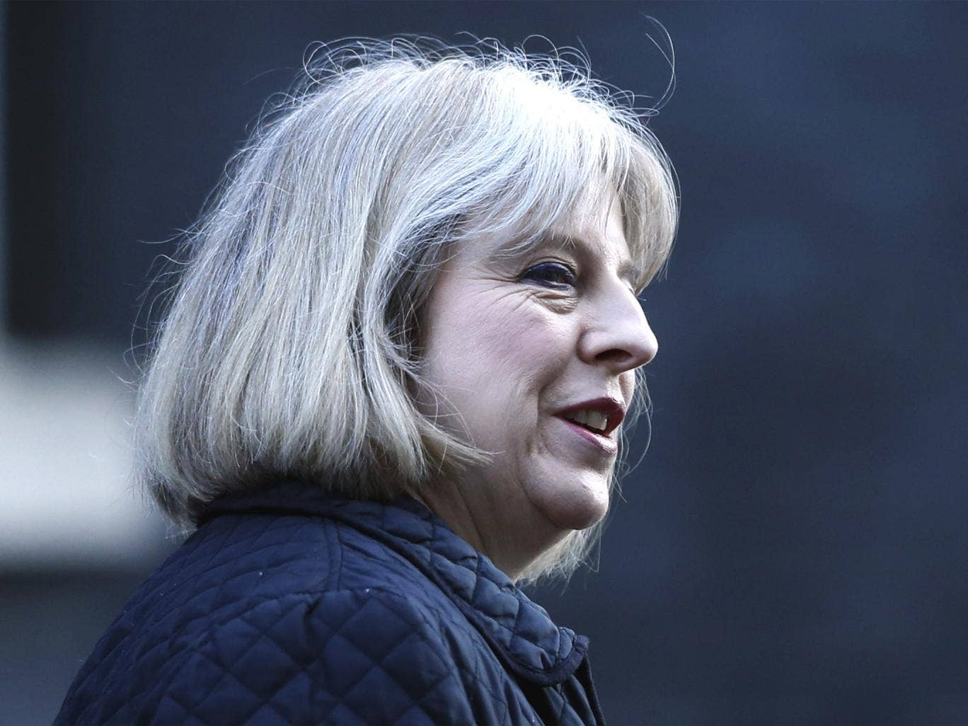 Home Secretary Theresa May after a Cabinet meeting at 10 Downing Street earlier this week