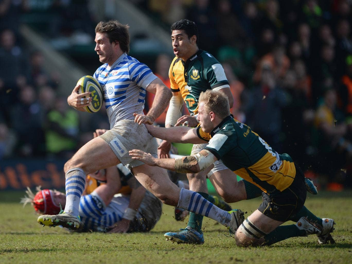 Marcelo Bosch saw a try ruled out just before half-time in Saracens' defeat to Northampton Saints