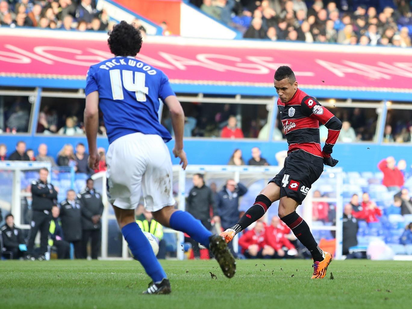 Ravel Morrison scores for QPR in their 2-0 win over Birmingham