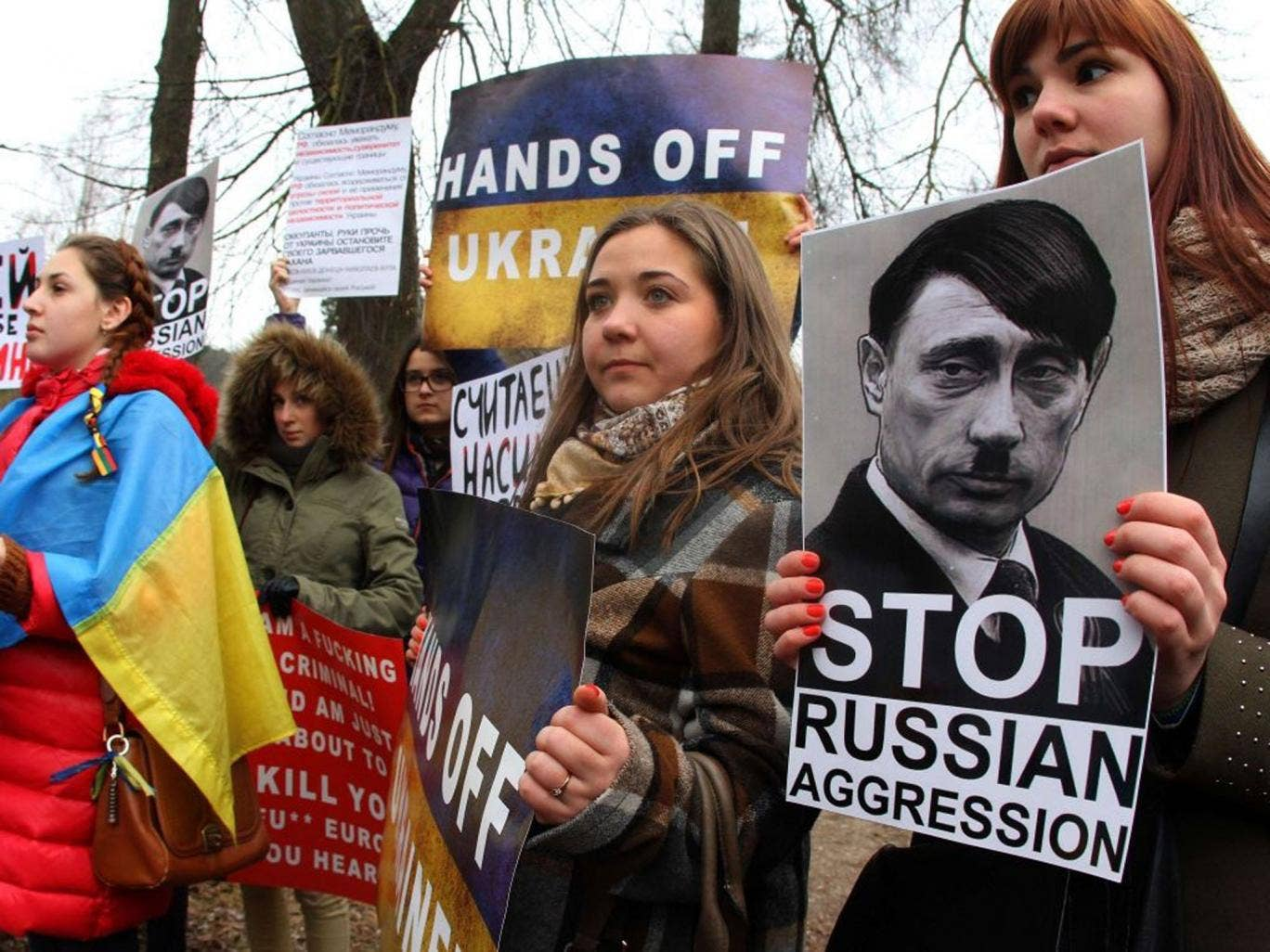 Not just thestates: Anti-Putin protesters in Vilnius, Lithuania last week