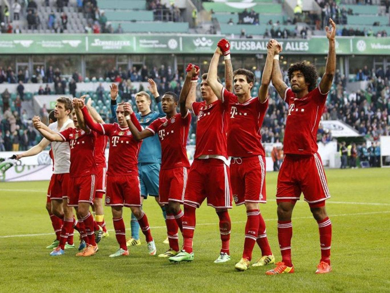 Bayern celebrate earlier this week