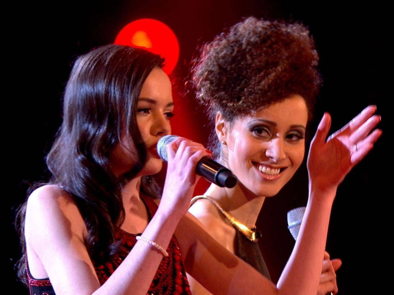 Dynamic duo: Sophie May Williams and Cherri Prince do battle on 'The Voice'