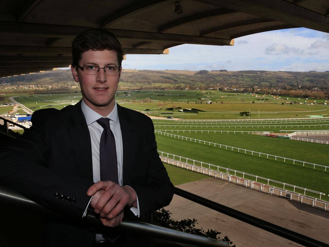 Trainer Harry Fry enjoys the sights and sounds of Cheltenham