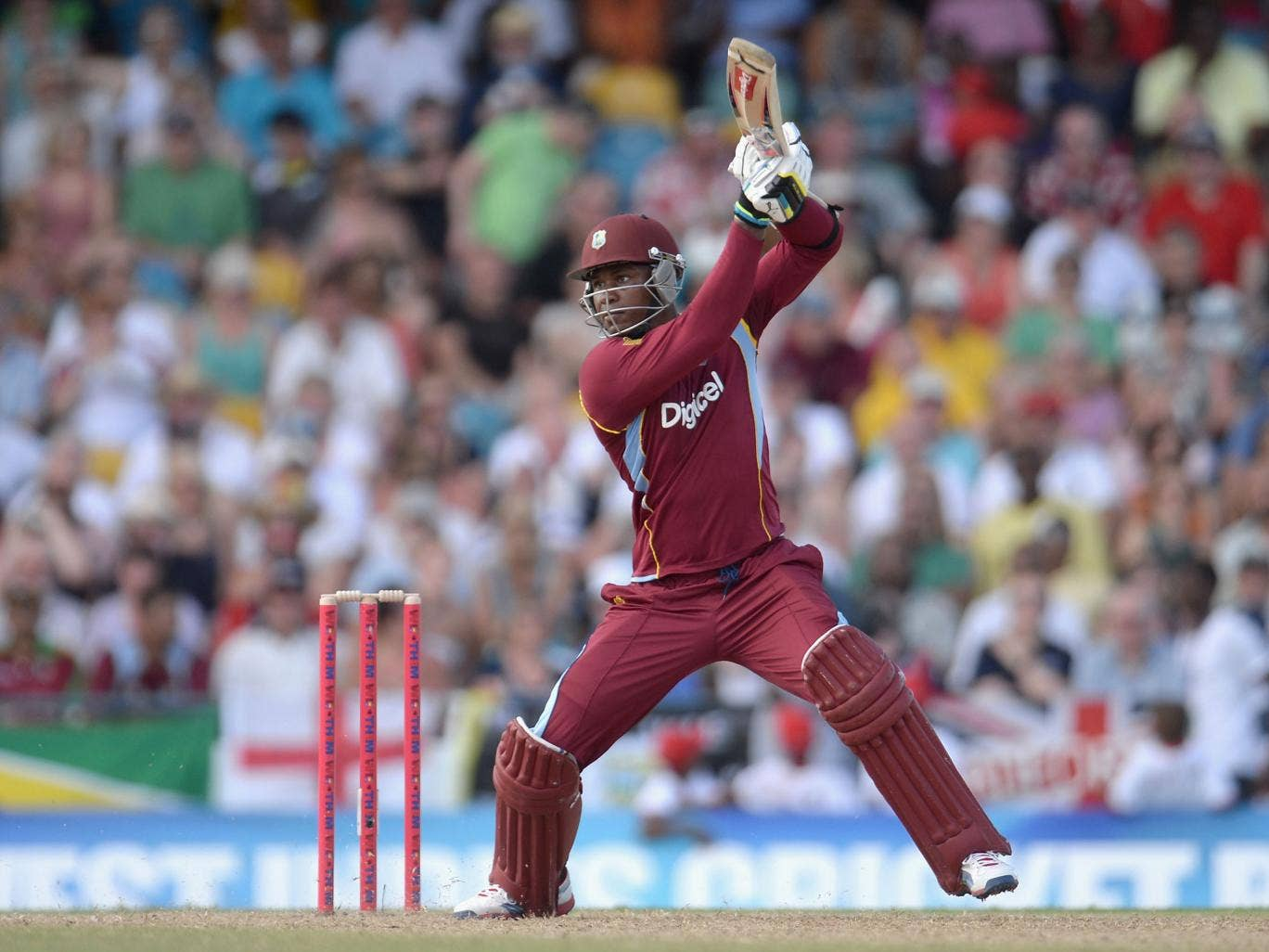 Marlon Samuels smashed 69 not out from 46 balls for West Indies