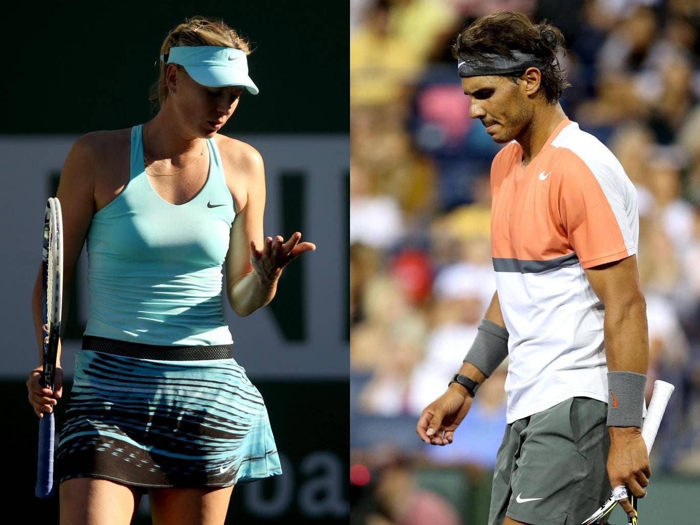 Maria Sharapova and Rafael Nadal both suffered early exits at the BNP Paribas Open at Indian Wells