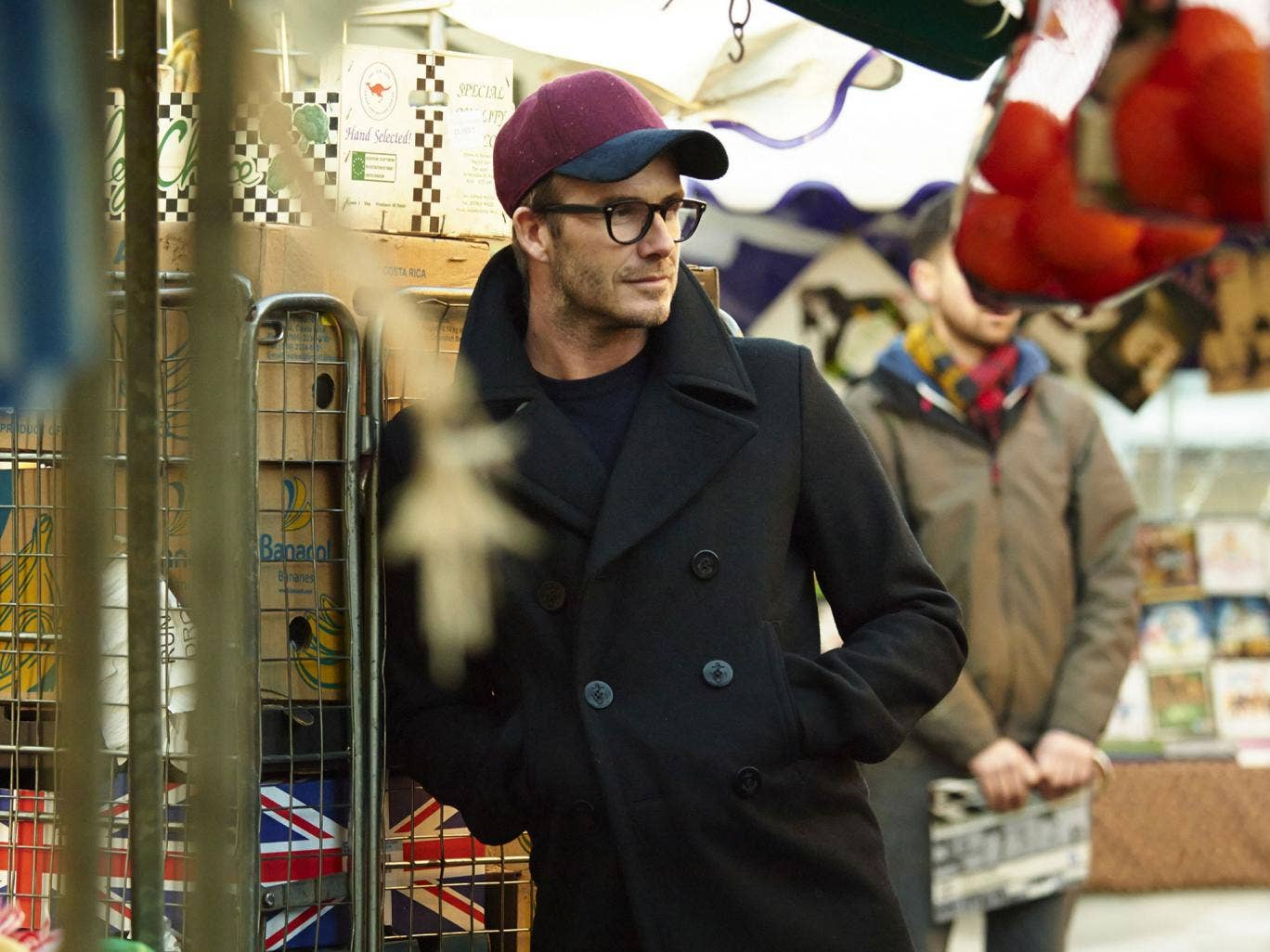 Beckham makes an appearance at the Only Fools market