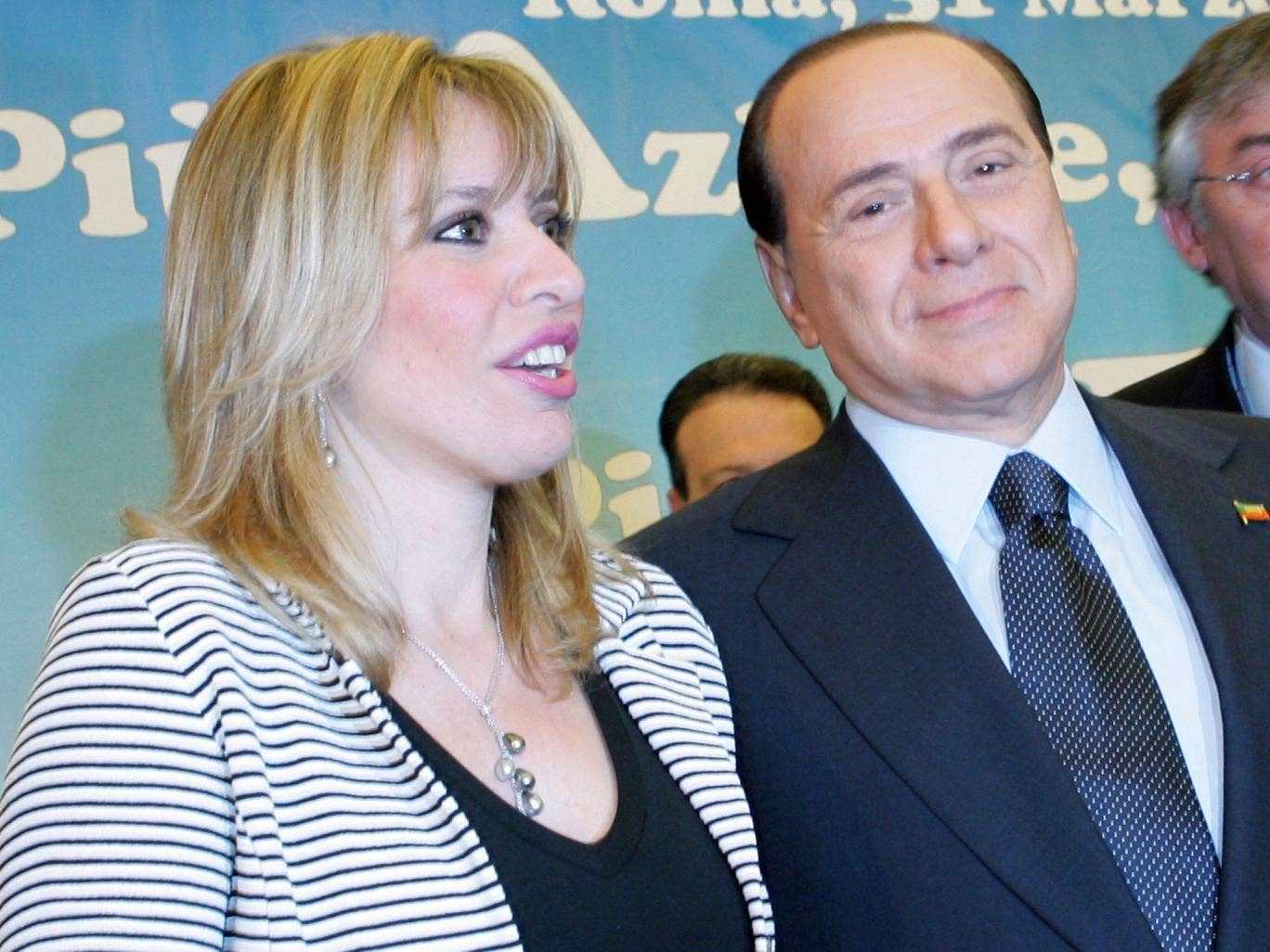Alessandra Mussolini MP, pictured here in 2007 with Silvio Berlusconi, whose Forza Italia party she would later join