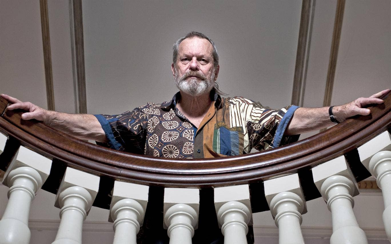 On song: Terry Gilliam at the London Coliseum before his first foray into opera directing in 2011