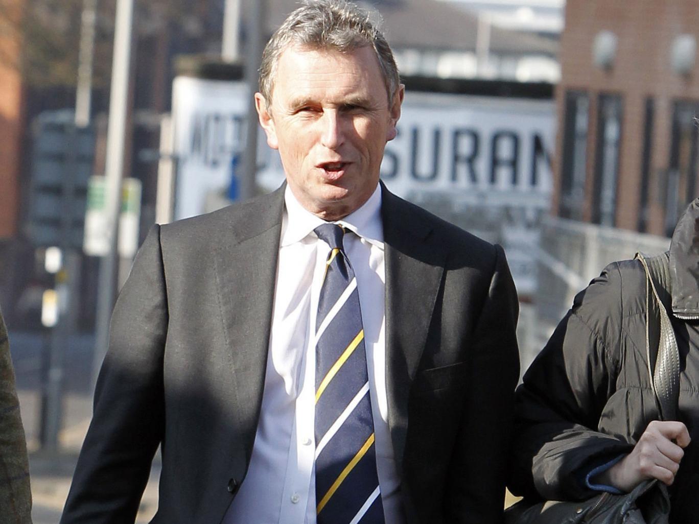 Nigel Evans, the former deputy speaker of the House of Commons, arrives at Preston Crown Court
