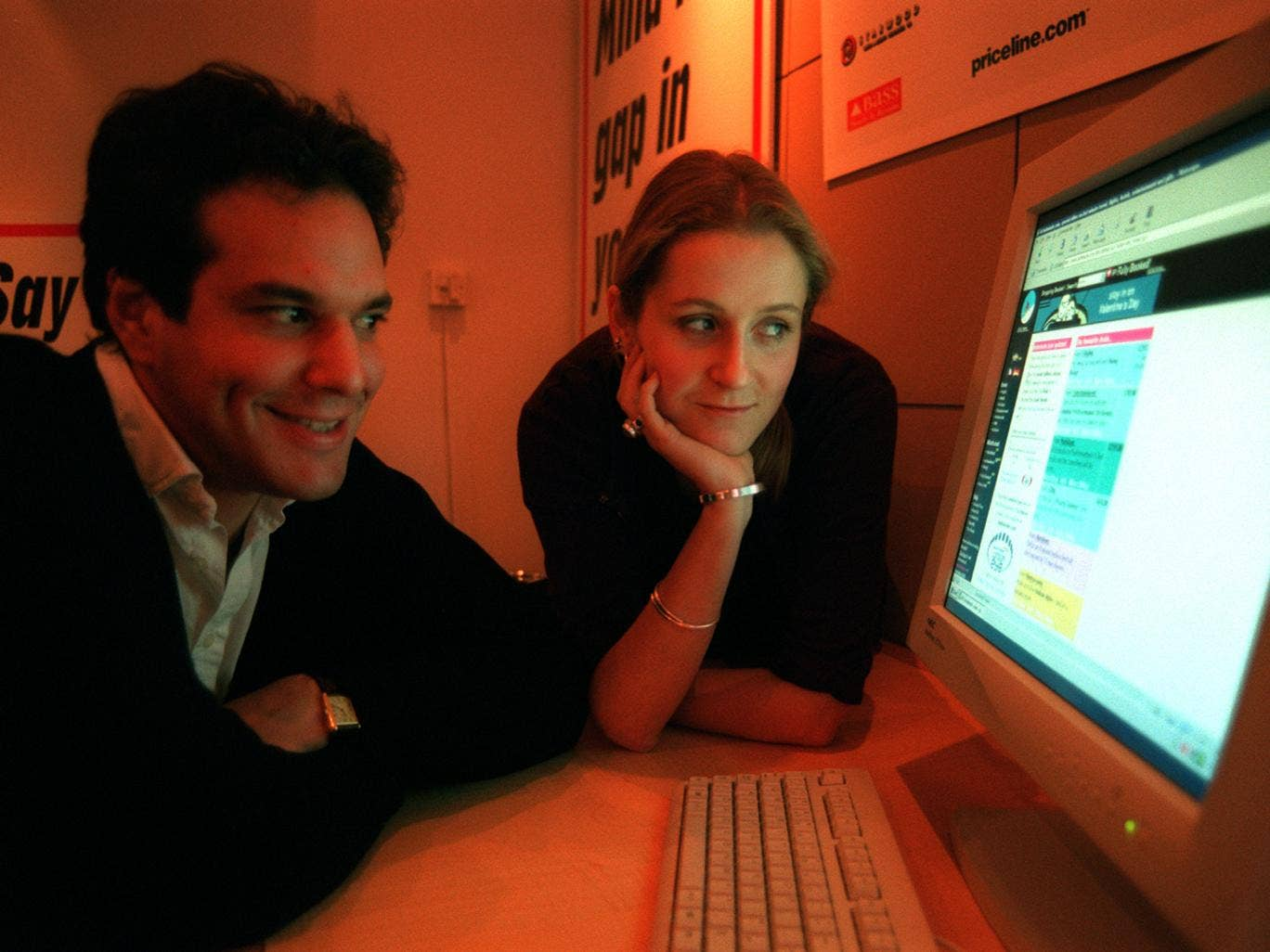 Brent Hoberman and Martha Lane Fox, co-founders of Lastminute.com, when they were preparing to float their company in February 2000