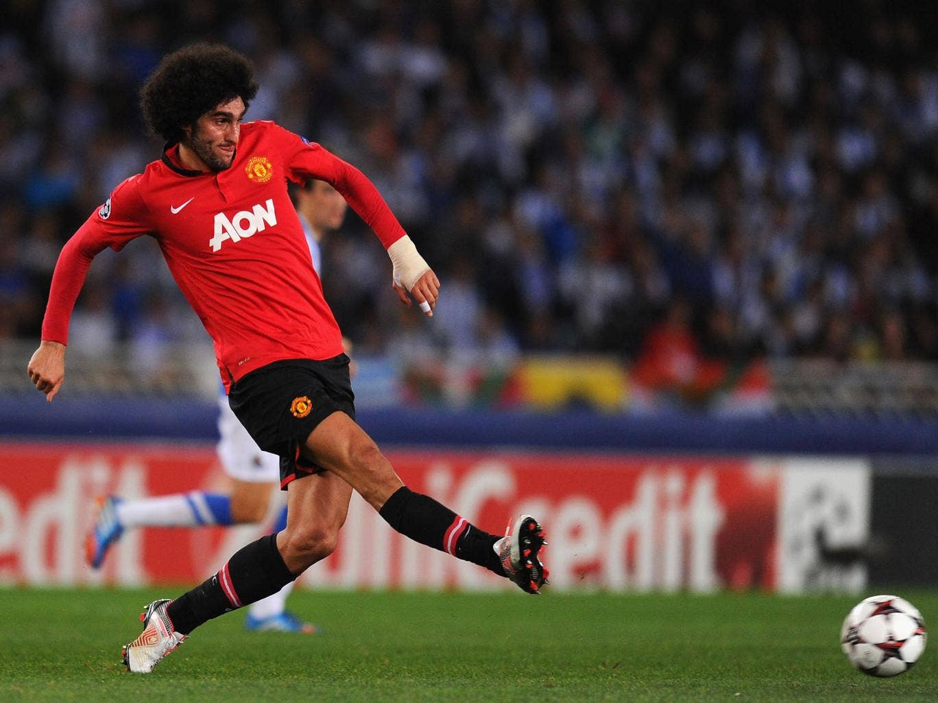 Marouane Fellaini of Manchester United in action