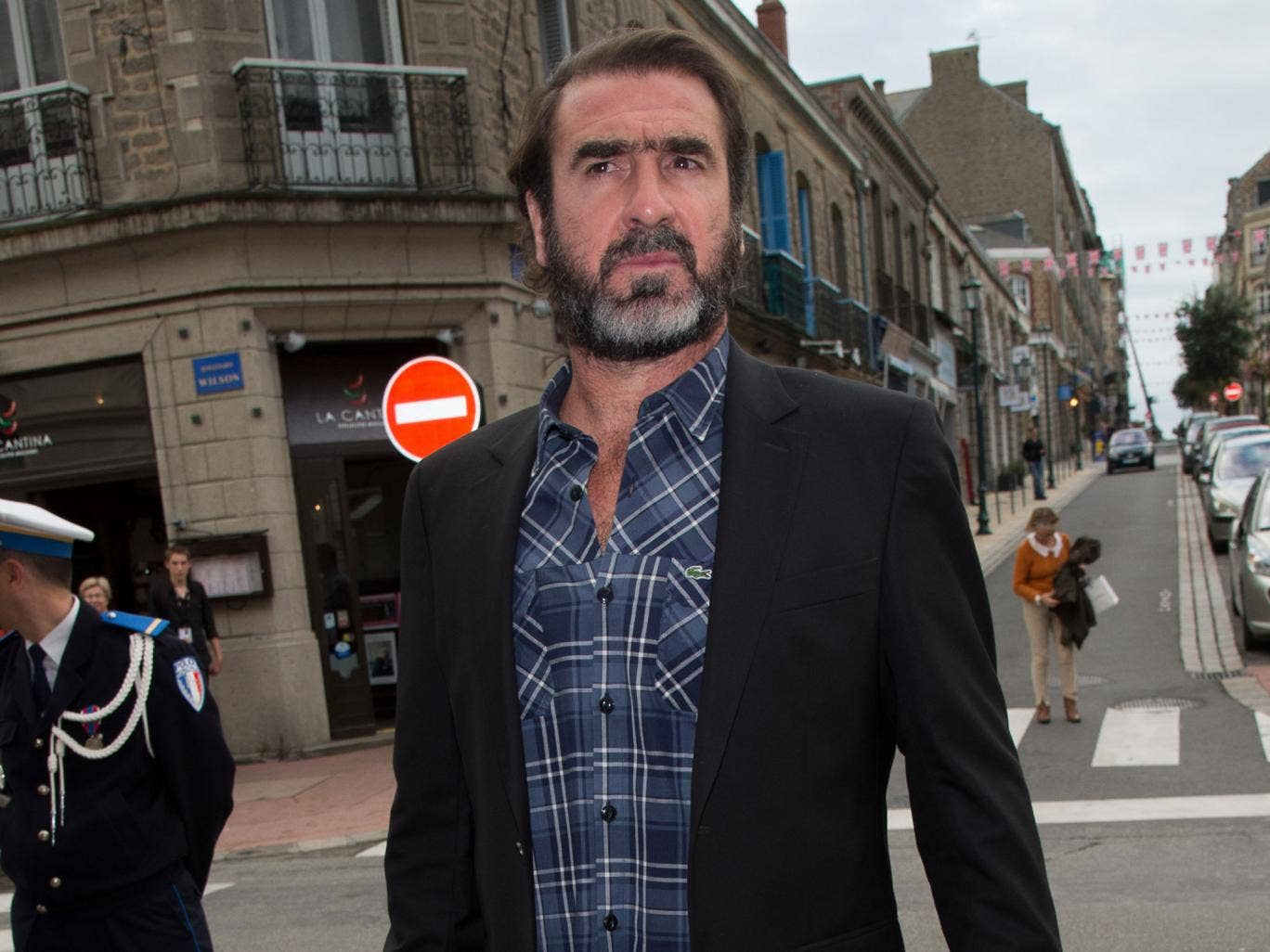Eric Cantona was involved in an incident in north London Wednesday