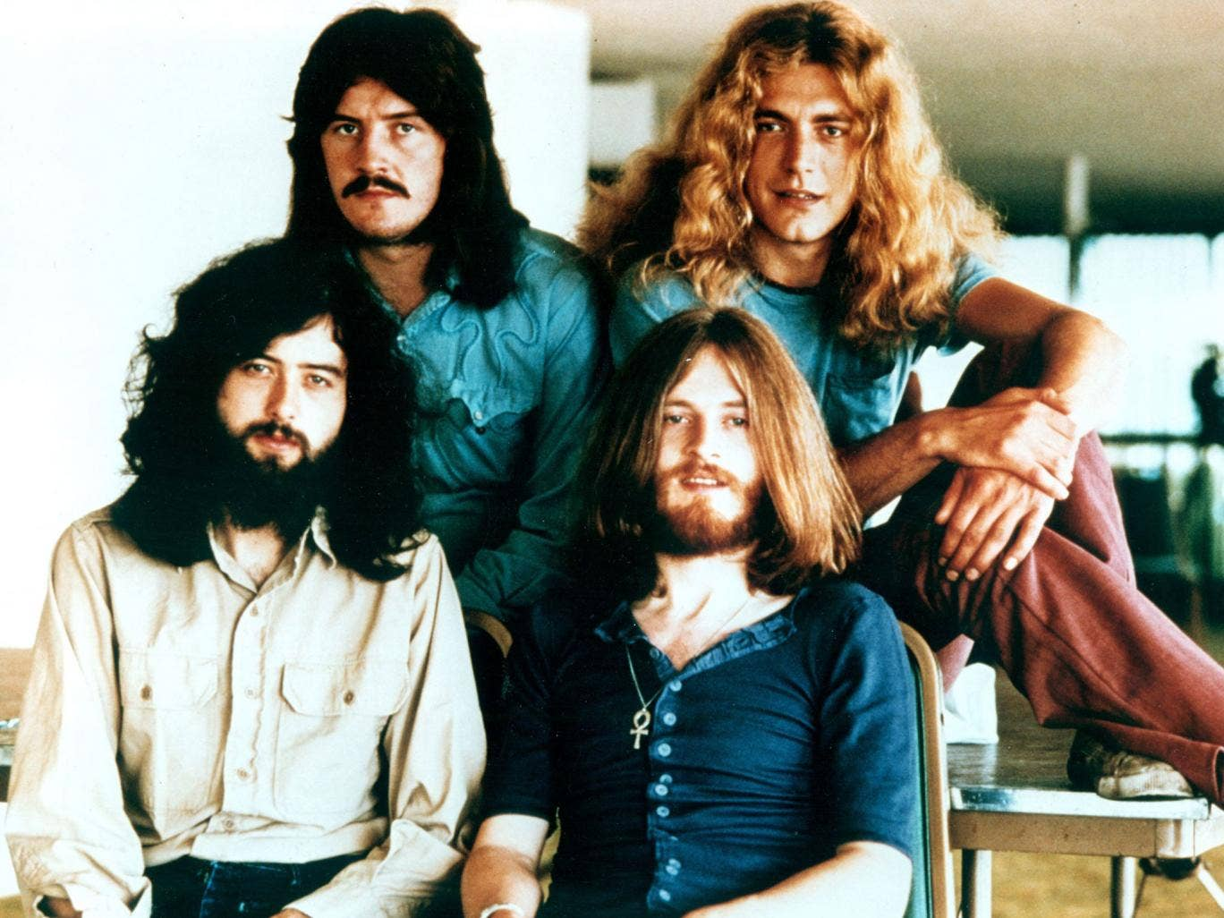 Rock band Led Zeppelin in the early 1970s