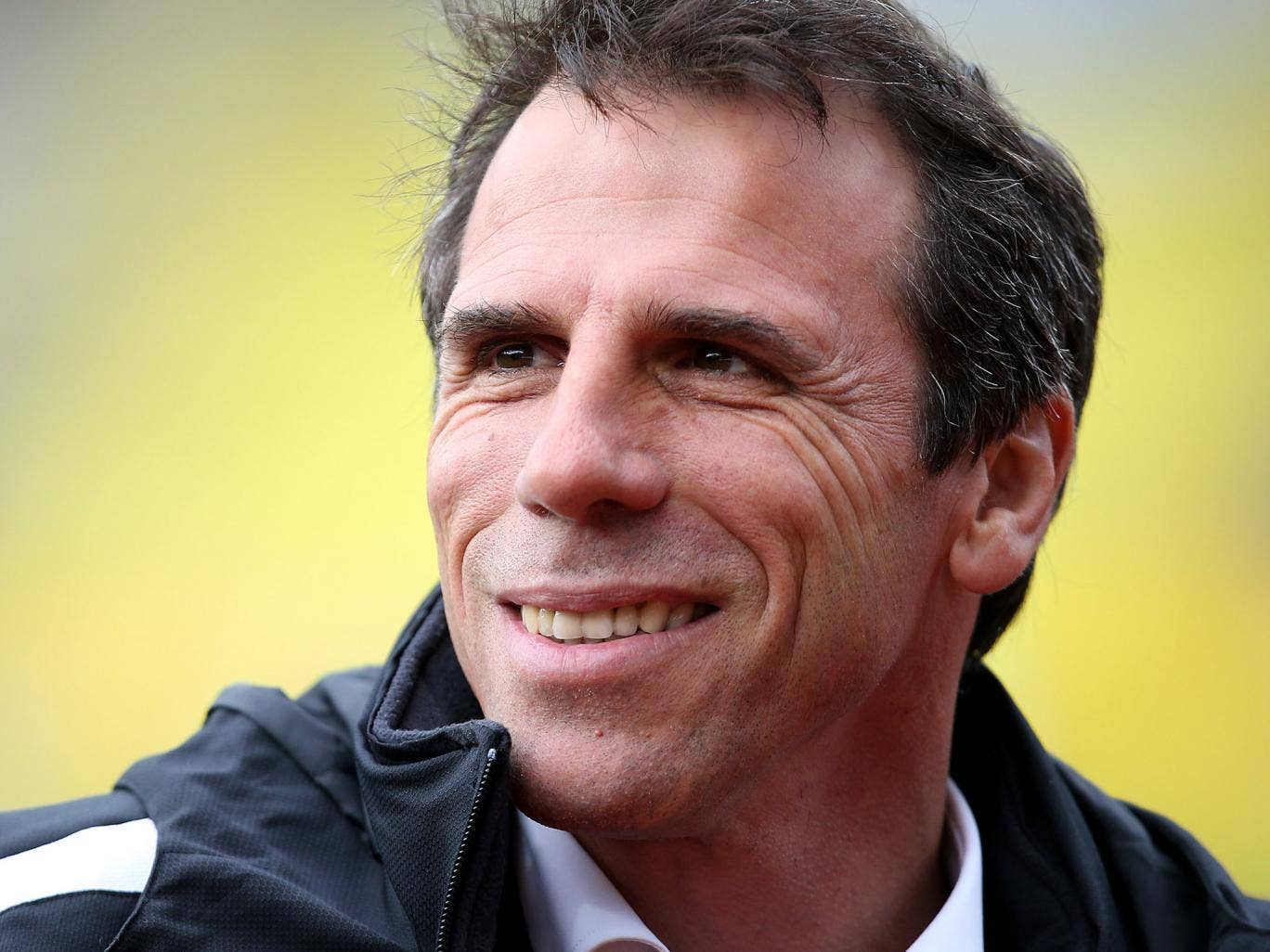 Former manager of Watford Gianfranco Zola looks on