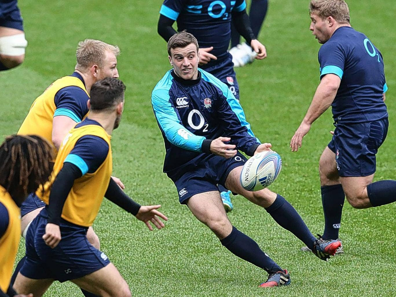 Bath fly-half George Ford trains with England. I would like to see him start against Italy to gain some experience before the New Zealand tour