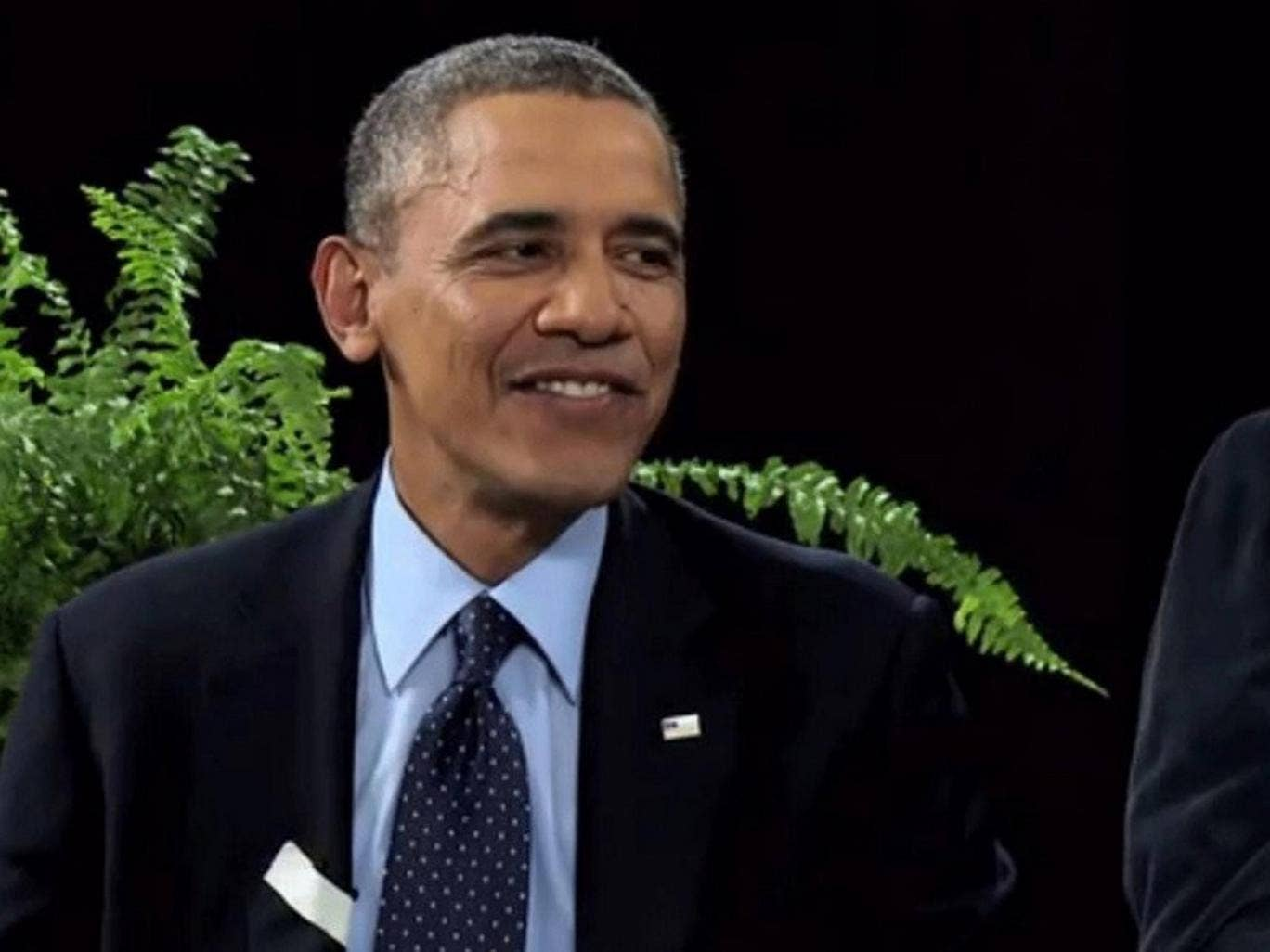 The grin reaper: Barack Obama on 'Between Two Ferns'