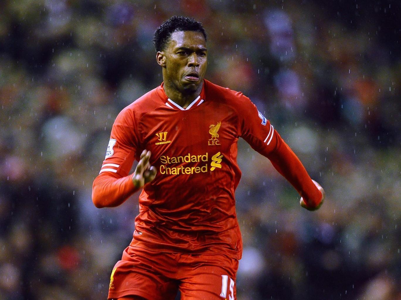 Daniel Sturridge of Liverpool in action back in January