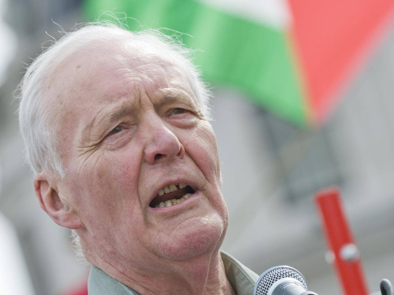 May 2008: Tony Benn speaking at march for a free Palestine on the 60th anniversary of Israel's nationhood