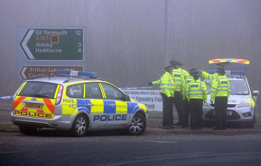Four people died after a helicopter came down in thick fog in Gillingham, Norfolk