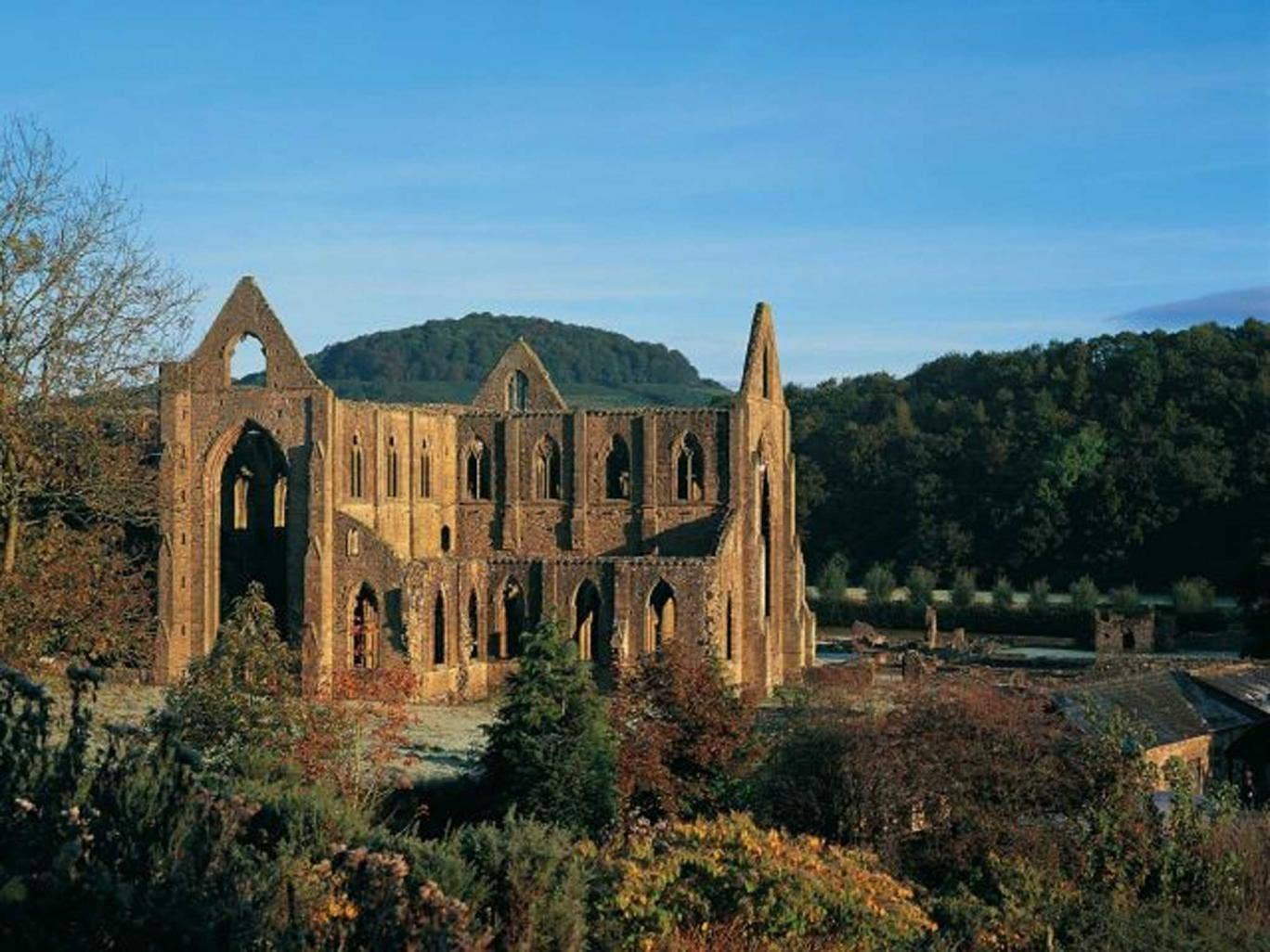 The show features work across the eras from Turner's painting of Tintern Abbey