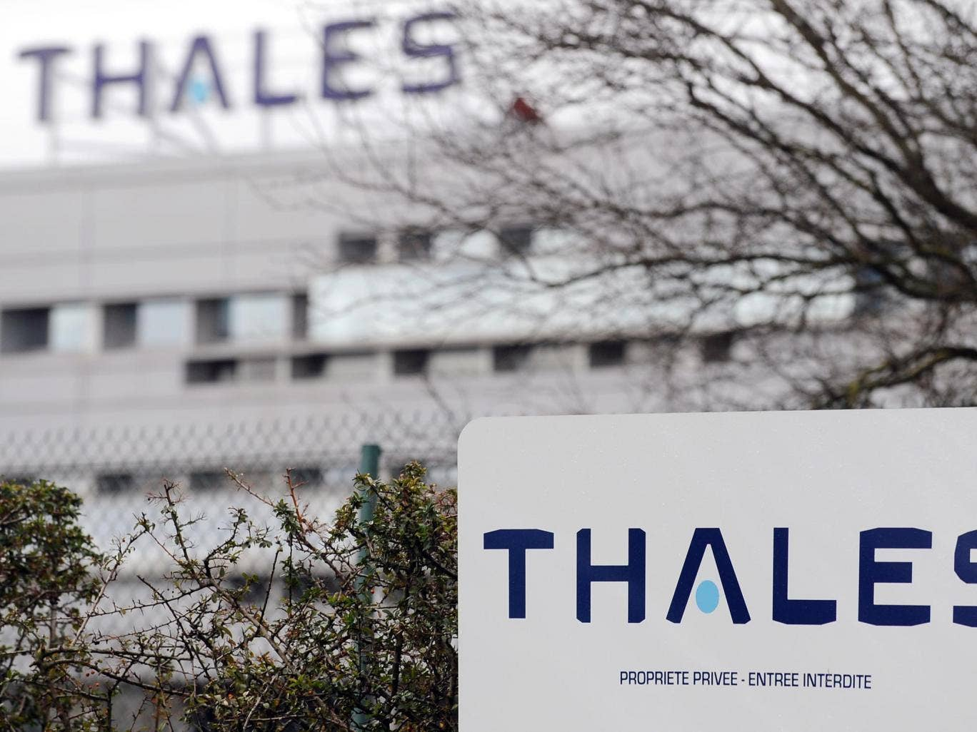 The Campaign Against the Arms Trade staged action to highlight what it claims is an inappropriate commercial relationship with Thales