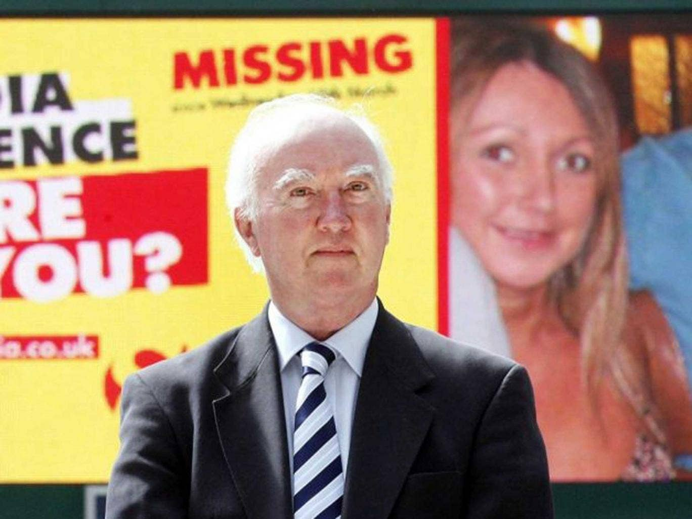 In limbo: Peter Lawrence (pictured here in 2010) hopes a Crimewatch this week on his missing daughter Claudia will result in new information