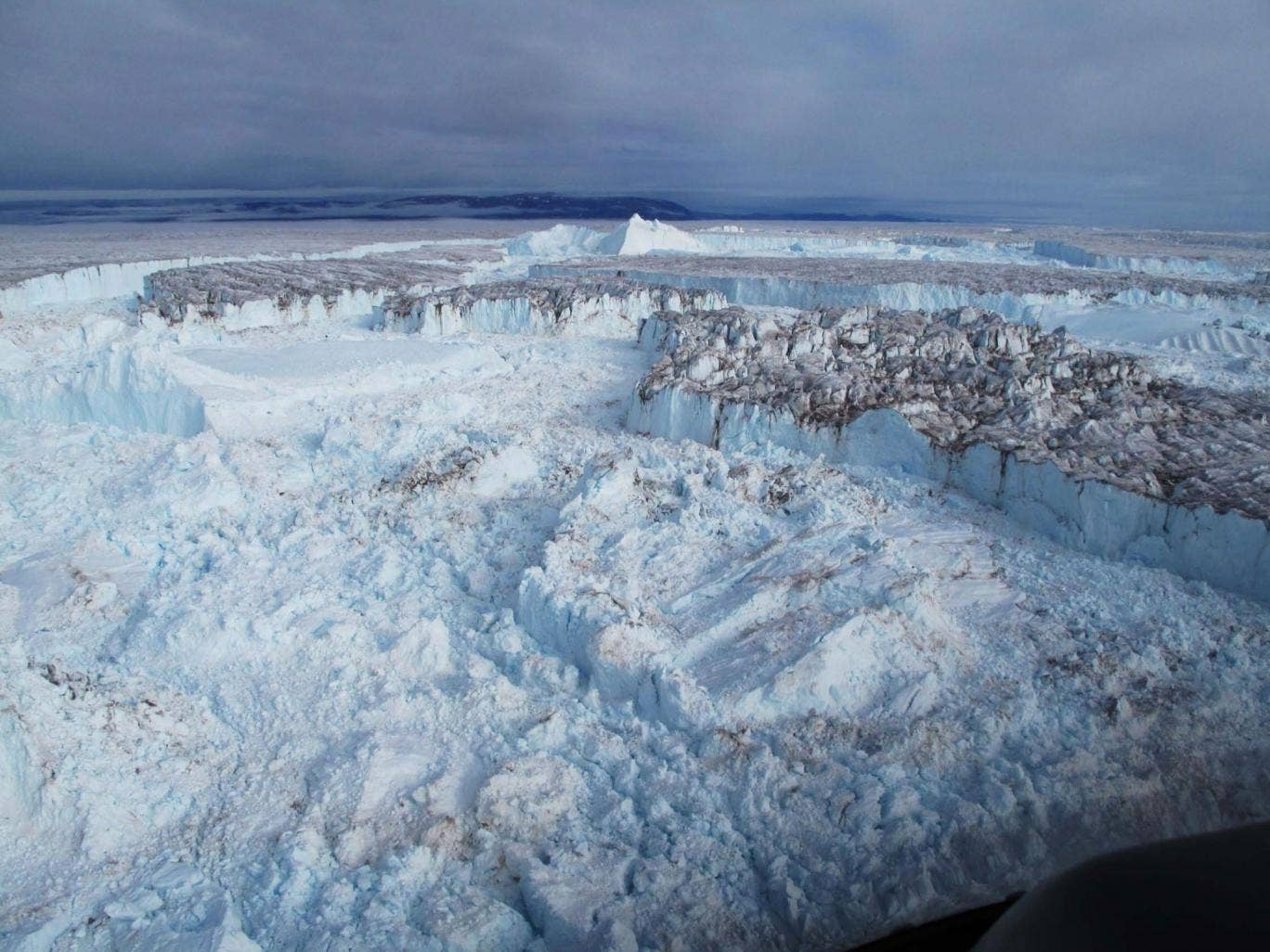 Glaciers in north-east Greenland disintegrate into the ocean