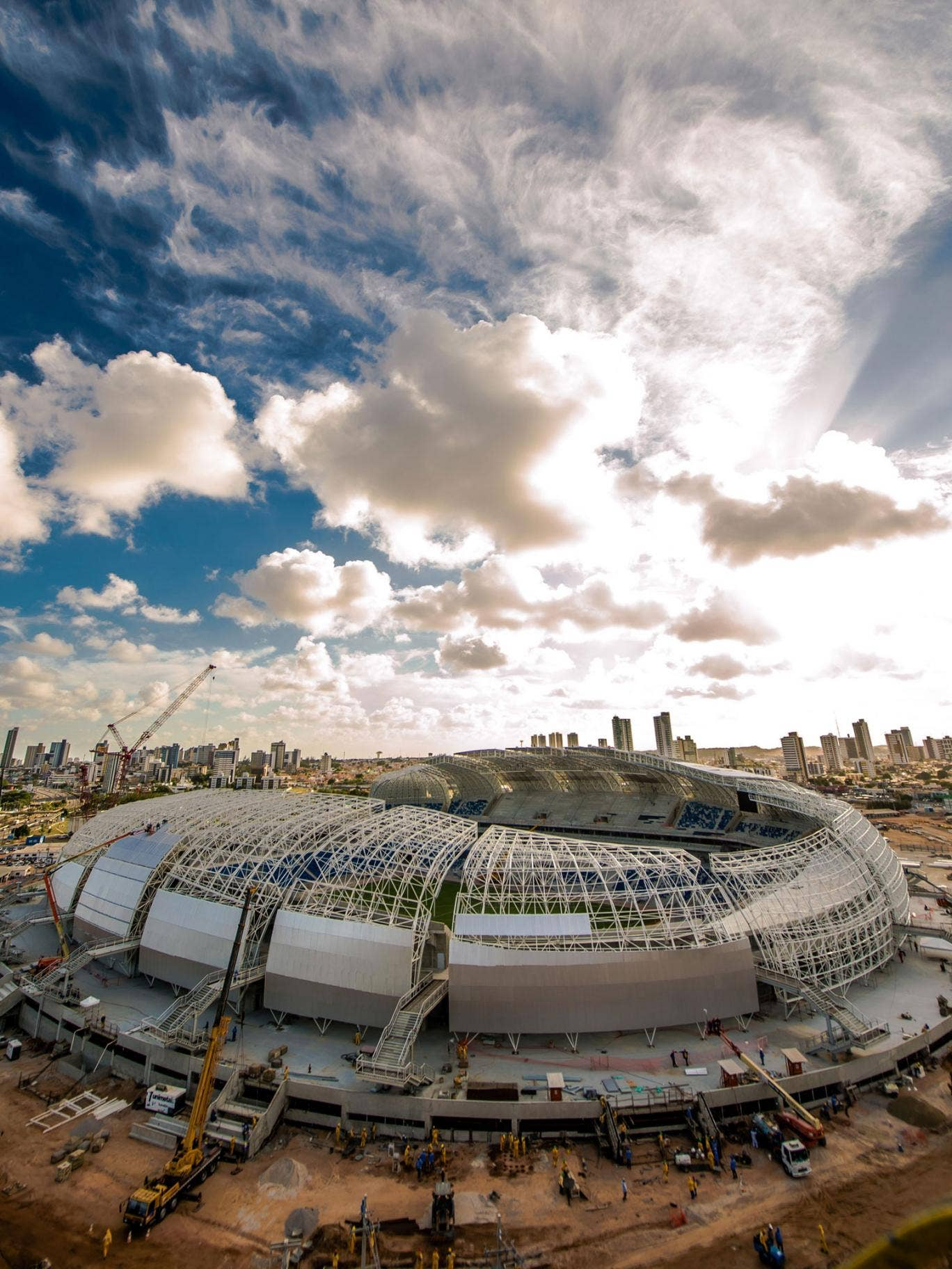 Stadiums like Estadio das Dunas, in Natal, are being inspected for mosquito-breeding areas