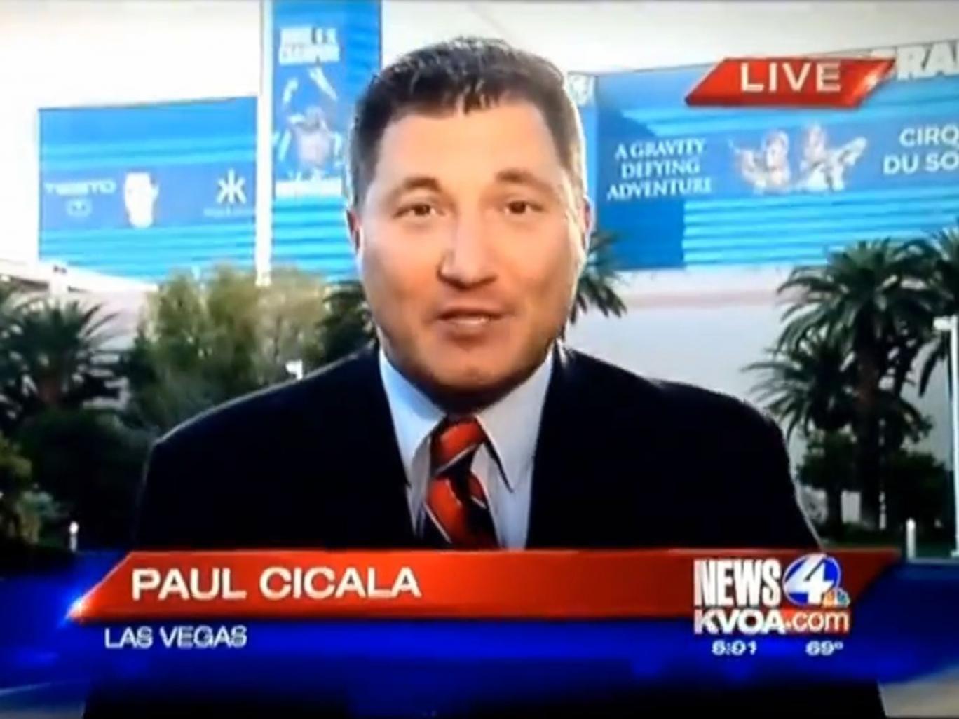 Paul Cicala, a sports reporter for News4 KVOA
