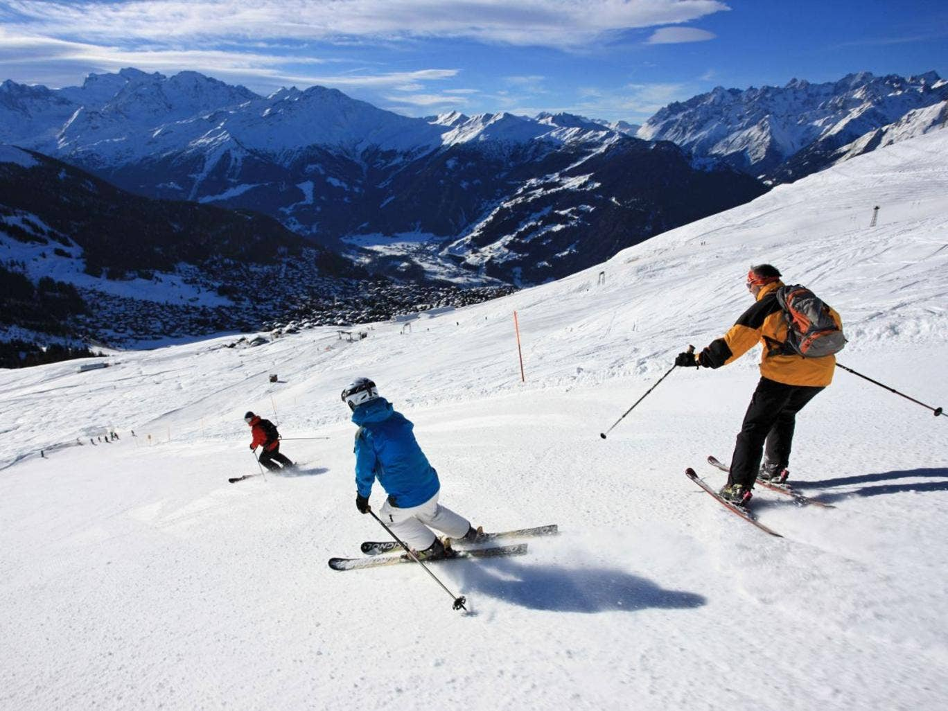 Out of the blue: Sunny skies have come to Verbier in Switzerland