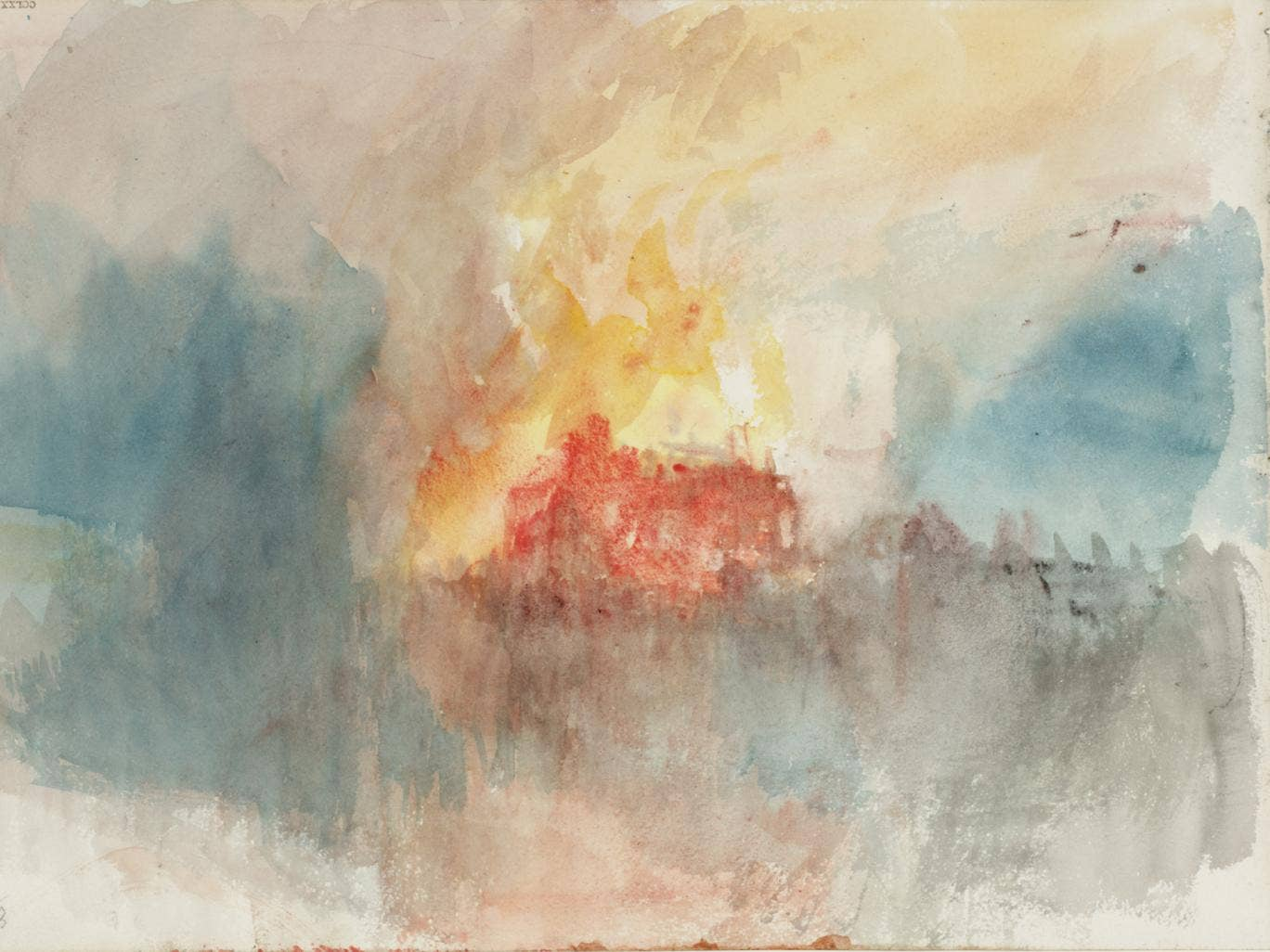 Experts now believe 'The Burning of the Houses of Parliament', a collection including nine watercolours by JMW Turner, inspired by a blaze on 16 October 1834, actually depict a fire at the Tower of London seven years later