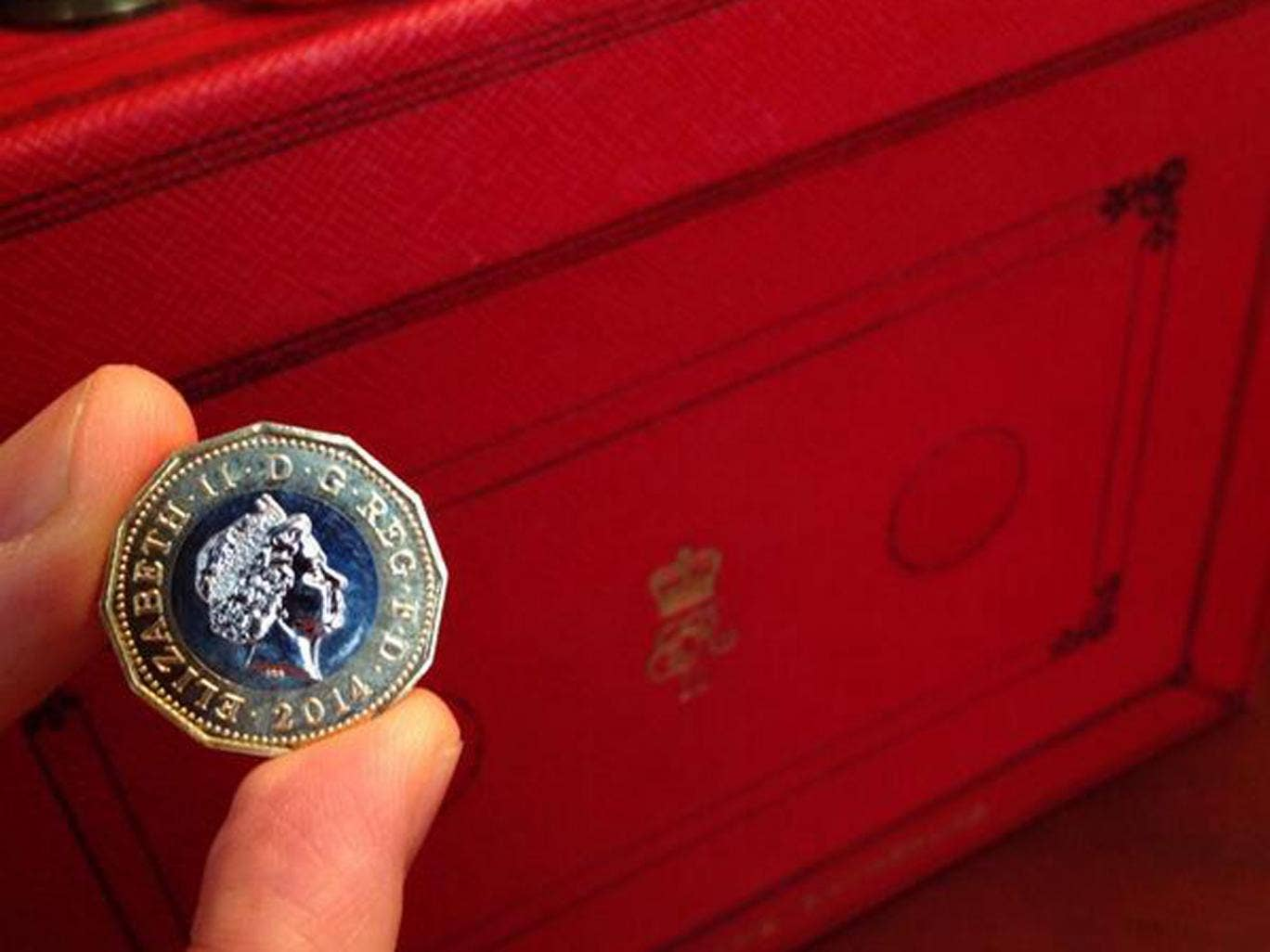 George Osborne tweeted a picture of the new coin ahead of the budget today