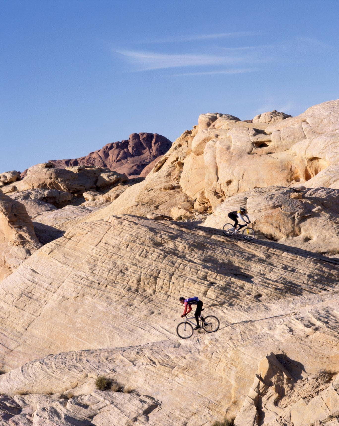 Mountain biking in the Valley of Fire State Park,