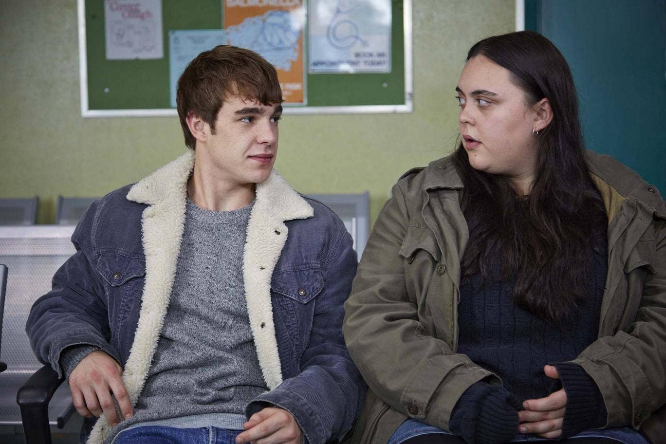 Nico Mirallegro (Finn) and Sharon Rooney (Earl) in 'My Mad Fat Diary'